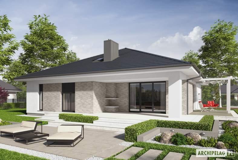 Projekt domu Irma III G1 ENERGO PLUS - wizualizacja ogrodowa