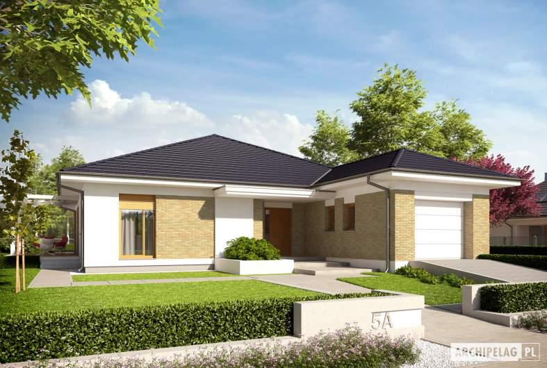 Projekt domu Irma III G1 ENERGO PLUS - wizualizacja frontowa