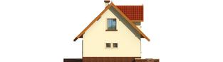 Projekt domu Megi (z piwnicą) - elewacja lewa