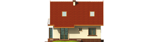 Projekt domu Megi (z piwnicą) - elewacja tylna