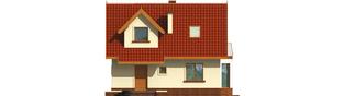 Projekt domu Megi (z piwnicą) - elewacja frontowa