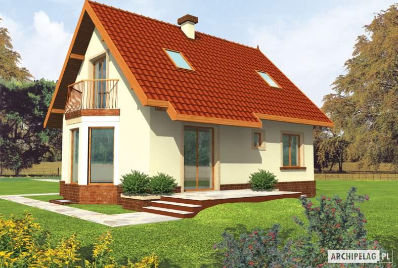 Projekt domu Megi (z piwnicą) - wizualizacja ogrodowa