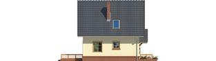 Projekt domu Bogusia - elewacja lewa