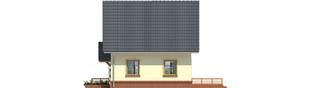 Projekt domu Bogusia - elewacja prawa