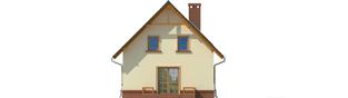 Projekt domu Bogusia - elewacja tylna