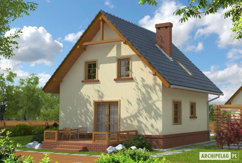 Projekt domu Bogusia - wizualizacja ogrodowa