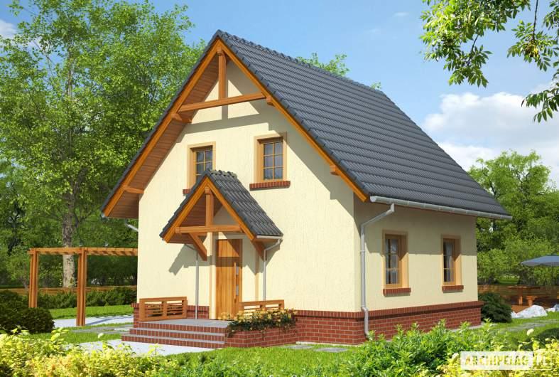 Projekt domu Bogusia - wizualizacja frontowa