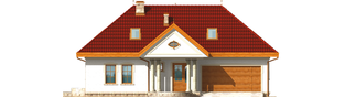 Projekt domu Paloma G2 - elewacja frontowa