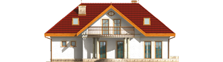 Projekt domu Paloma G2 - elewacja tylna