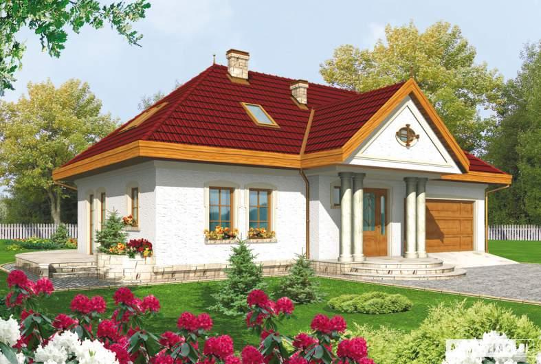 Projekt domu Paloma G2 - wizualizacja frontowa