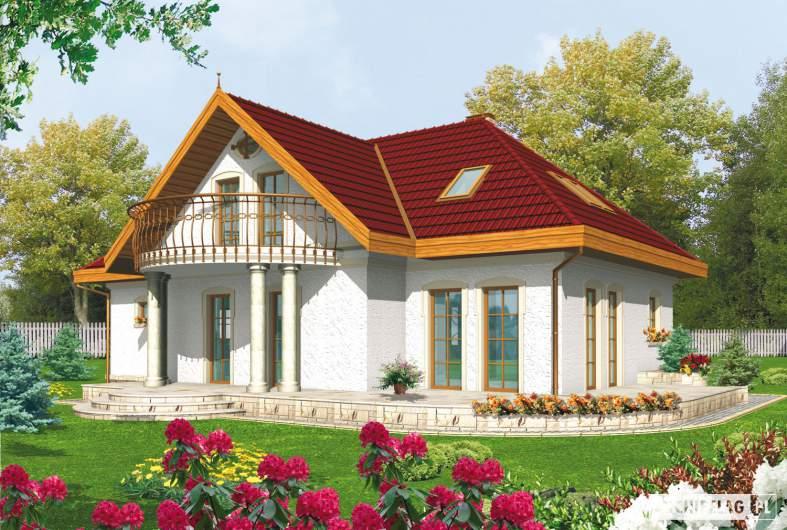 Projekt domu Paloma G2 - wizualizacja ogrodowa