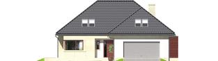 Projekt domu Teo (mały) G2 - elewacja frontowa