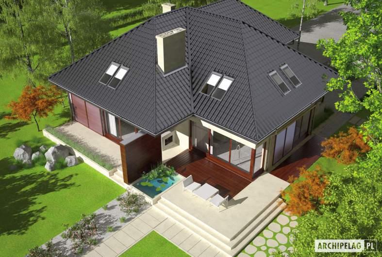 Projekt domu Teo (mały) G2 - widok góry