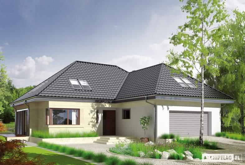 Projekt domu Teo (mały) G2 - wizualizacja frontowa