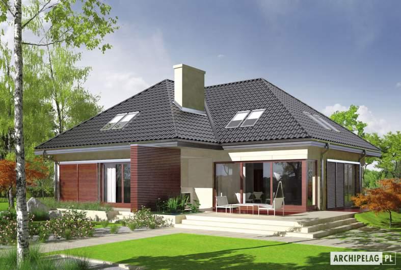 Projekt domu Teo (mały) G2 - wizualizacja ogrodowa