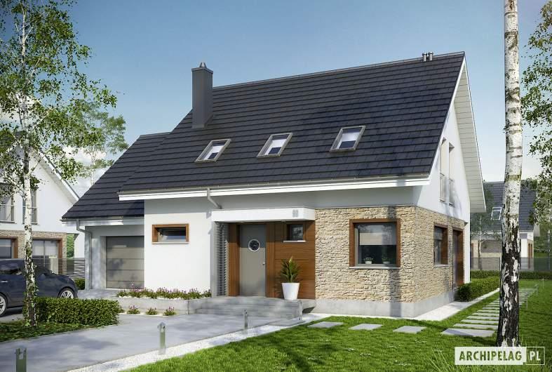 Projekt domu Pedro G1 ENERGO - wizualizacja frontowa