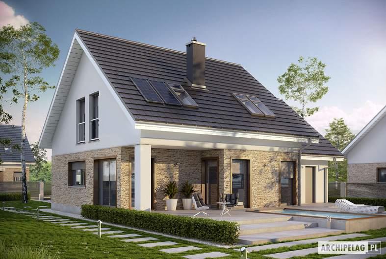 Projekt domu Pedro G1 ENERGO - wizualizacja ogrodowa