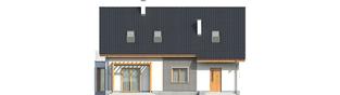 Projekt domu Ben G1 (z piwnicą) - elewacja tylna