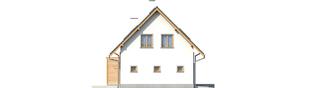 Projekt domu Ben G1 (z piwnicą) - elewacja lewa
