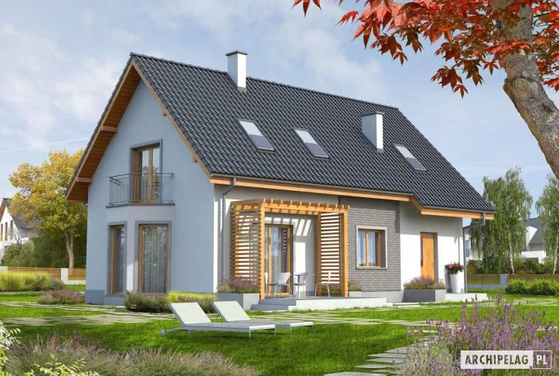 Projekt domu Ben G1 (z piwnicą) - Projekty domów ARCHIPELAG - Ben G1 (z piwnicą) - wizualizacja ogrodowa