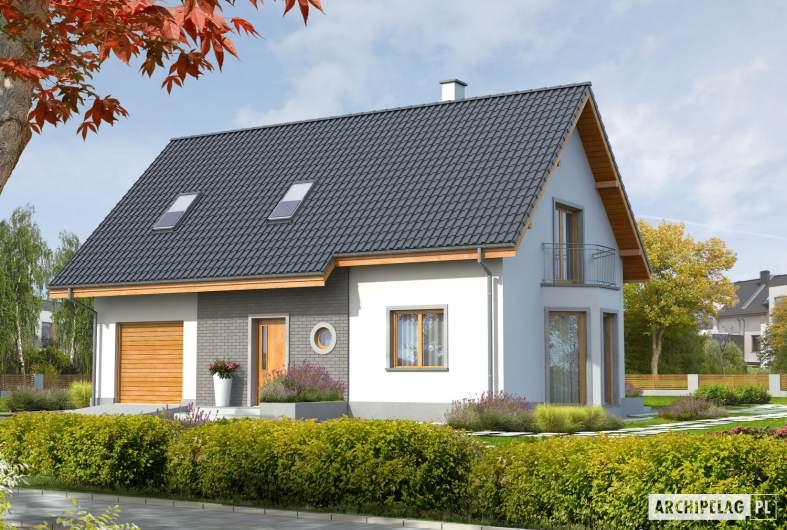 Projekt domu Ben G1 (z piwnicą) - Projekty domów ARCHIPELAG - Ben G1 (z piwnicą) - wizualizacja frontowa