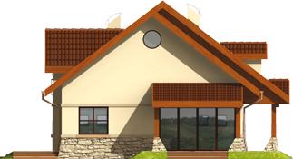Elene G1 - Projekt domu Elena G1 - elewacja lewa