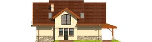 Projekt domu Elena G1 - elewacja tylna