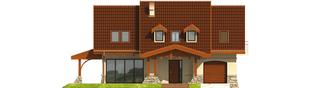 Projekt domu Elena G1 - elewacja frontowa