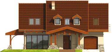 Elene G1 - Projekt domu Elena G1 - elewacja frontowa