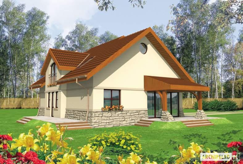 Projekt domu Elena G1 - wizualizacja ogrodowa