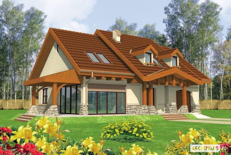 Projekt domu Elena G1 - wizualizacja frontowa