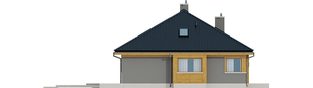 Projekt domu Flo - elewacja lewa