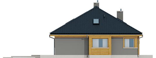 Flow - Projekty domów ARCHIPELAG - Flo - elewacja lewa