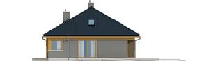 Projekt domu Flo - elewacja prawa