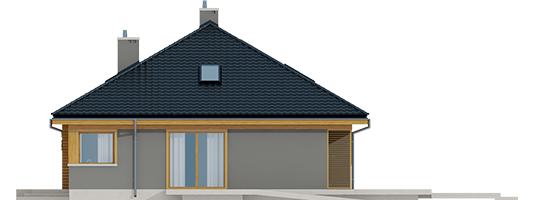 Flow - Projekty domów ARCHIPELAG - Flo - elewacja prawa