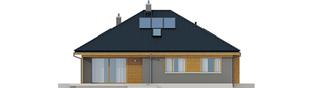 Projekt domu Flo - elewacja tylna
