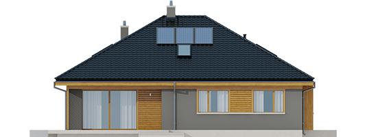 Flow - Projekty domów ARCHIPELAG - Flo - elewacja tylna