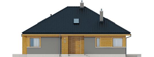 Flow - Projekty domów ARCHIPELAG - Flo - elewacja frontowa