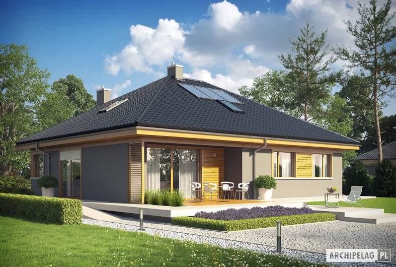 Projekt domu Flo - Projekty domów ARCHIPELAG - Flo - wizualizacja ogrodowa