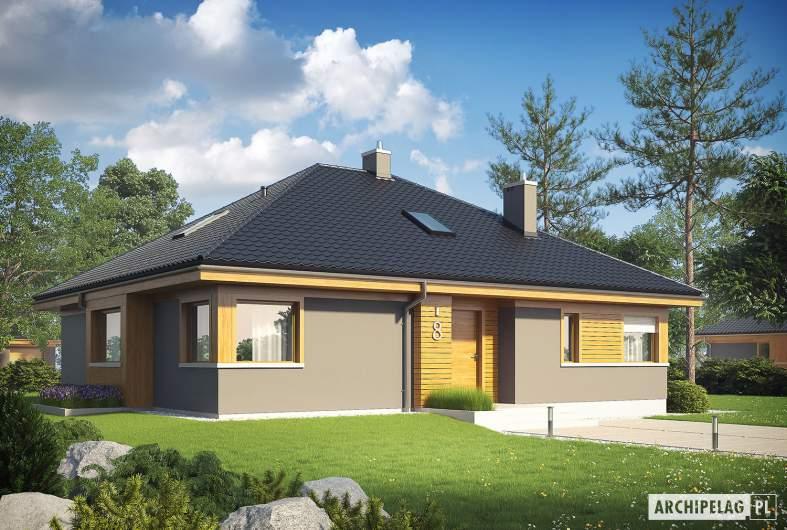 Projekt domu Flo - Projekty domów ARCHIPELAG - Flo - wizualizacja frontowa
