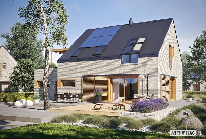 Projekt domu Katrina II G1 ENERGO PLUS - wizualizacja ogrodowa