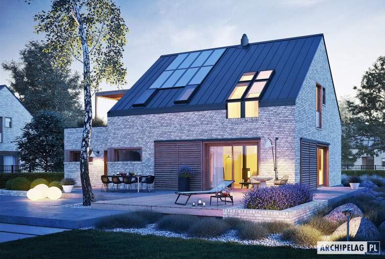 Projekt domu Katrina II G1 ENERGO PLUS - wizualizacja nocna