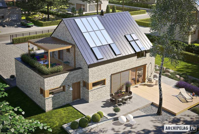 Projekt domu Katrina II G1 ENERGO PLUS - widok z góry
