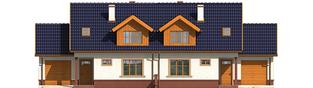 Projekt domu Melka G1 (bliźniak) - elewacja frontowa