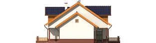Projekt domu Melka G1 (bliźniak) - elewacja prawa