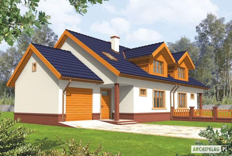 Projekt domu Melka G1 - wizualizacja frontowa