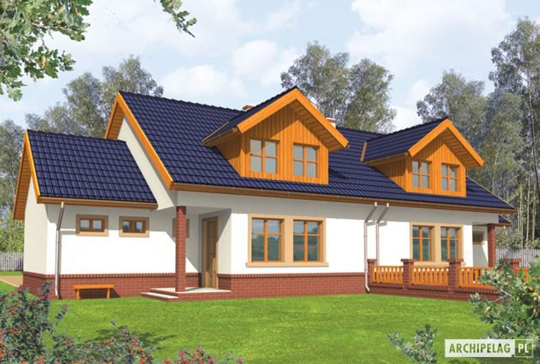 Projekt domu Melka G1 - wizualizacja ogrodowa