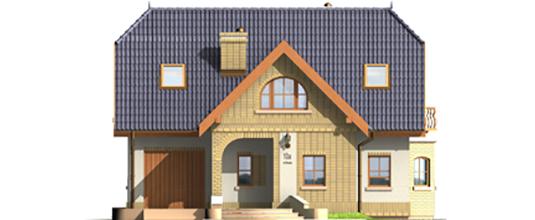 Mirabell G1 - Projekt domu Mirabelka G1 - elewacja frontowa