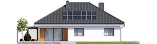 Projekt domu Astrid (mała) G2 - elewacja tylna