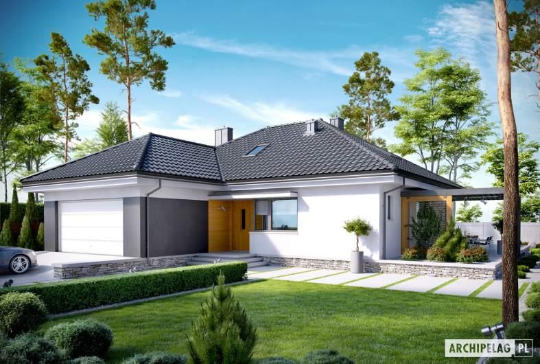 Projekt domu Astrid (mała) G2 - wizualizacja frontowa